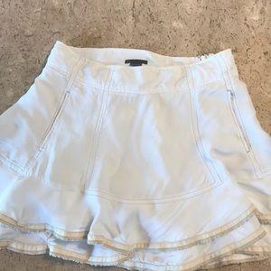 Flirty Armani Exchange layered mini skirt